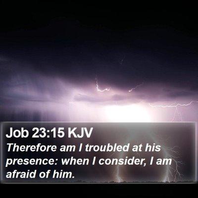 Job 23:15 KJV Bible Verse Image