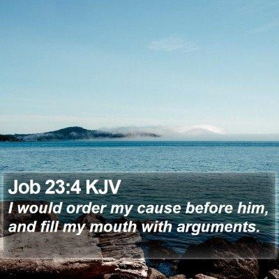Job 23:4 KJV Bible Verse Image