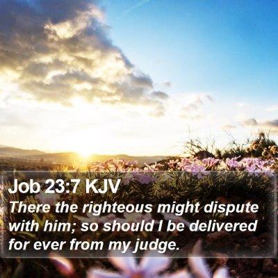 Job 23:7 KJV Bible Verse Image