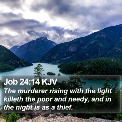 Job 24:14 KJV Bible Verse Image