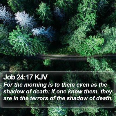 Job 24:17 KJV Bible Verse Image