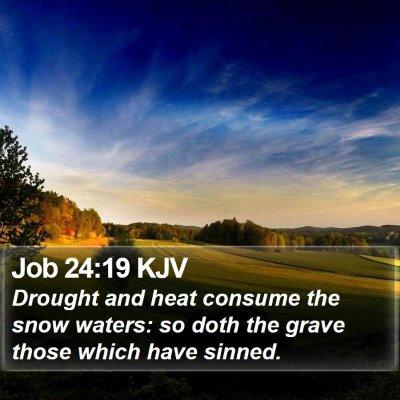 Job 24:19 KJV Bible Verse Image
