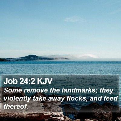 Job 24:2 KJV Bible Verse Image