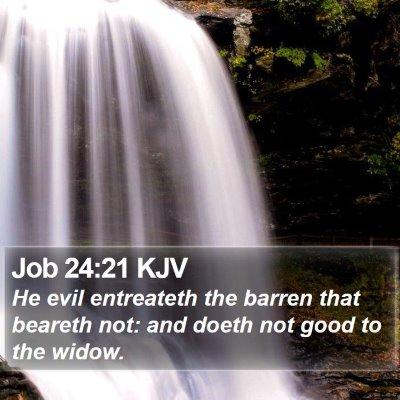 Job 24:21 KJV Bible Verse Image