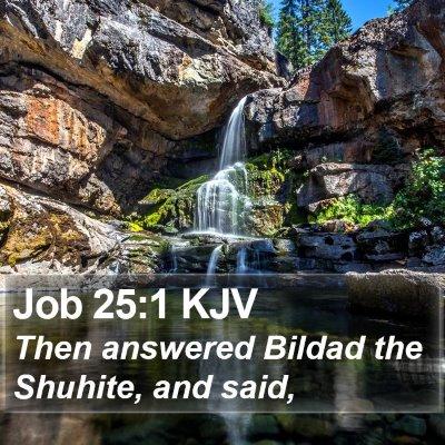 Job 25:1 KJV Bible Verse Image