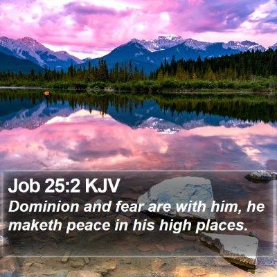 Job 25:2 KJV Bible Verse Image