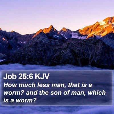 Job 25:6 KJV Bible Verse Image