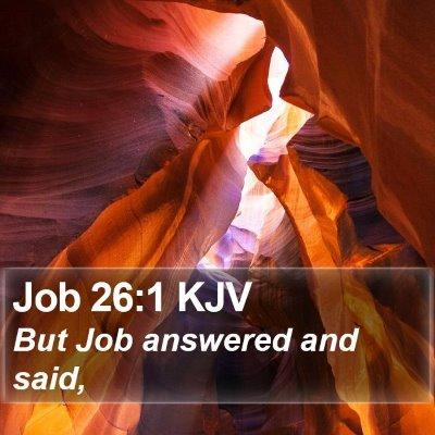 Job 26:1 KJV Bible Verse Image