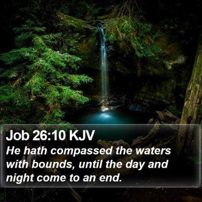 Job 26:10 KJV Bible Verse Image