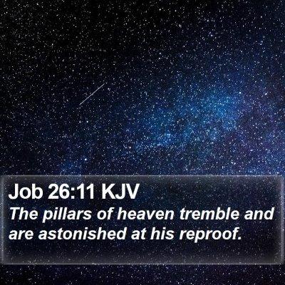 Job 26:11 KJV Bible Verse Image