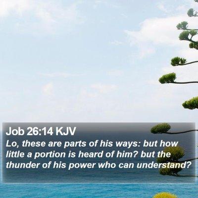 Job 26:14 KJV Bible Verse Image