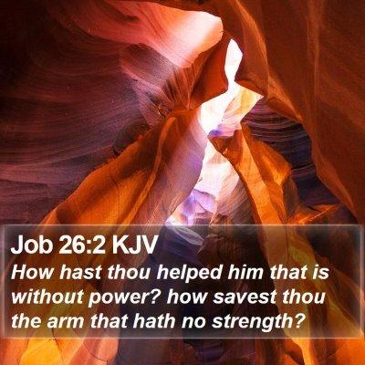 Job 26:2 KJV Bible Verse Image