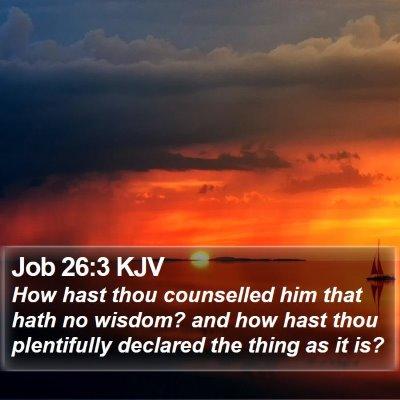Job 26:3 KJV Bible Verse Image