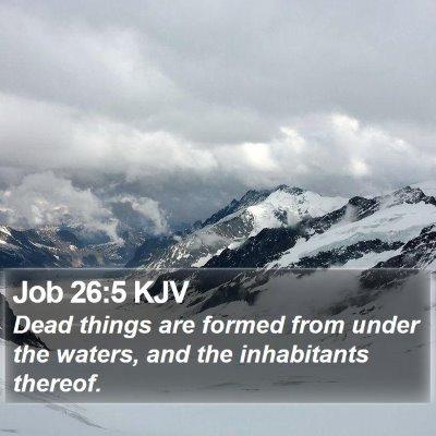 Job 26:5 KJV Bible Verse Image