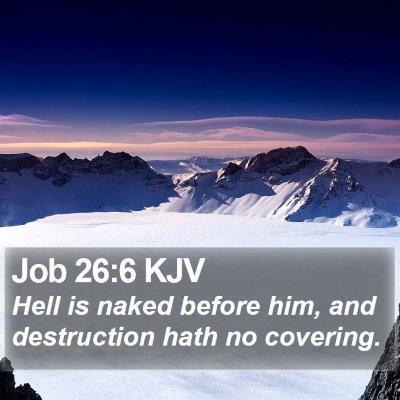 Job 26:6 KJV Bible Verse Image