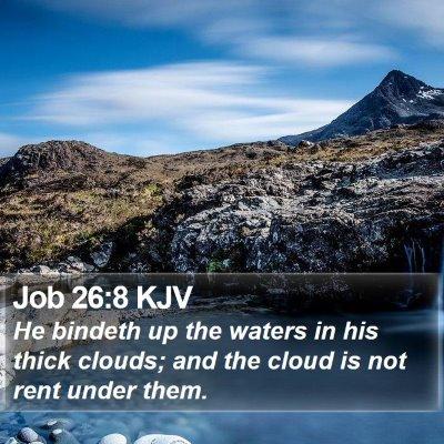 Job 26:8 KJV Bible Verse Image