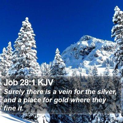 Job 28:1 KJV Bible Verse Image