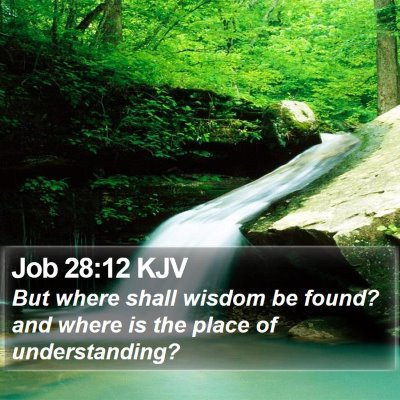Job 28:12 KJV Bible Verse Image