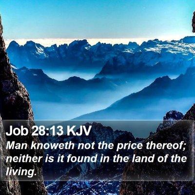 Job 28:13 KJV Bible Verse Image