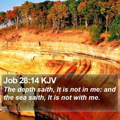Job 28:14 KJV Bible Verse Image