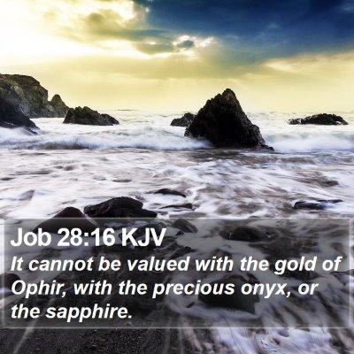 Job 28:16 KJV Bible Verse Image