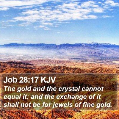 Job 28:17 KJV Bible Verse Image