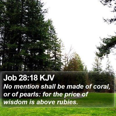 Job 28:18 KJV Bible Verse Image