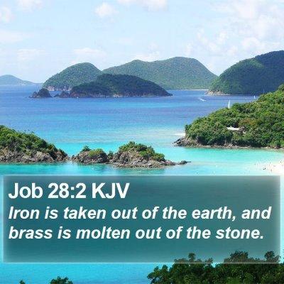 Job 28:2 KJV Bible Verse Image
