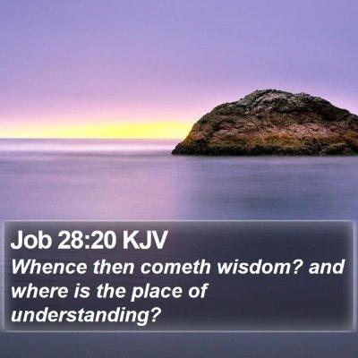 Job 28:20 KJV Bible Verse Image