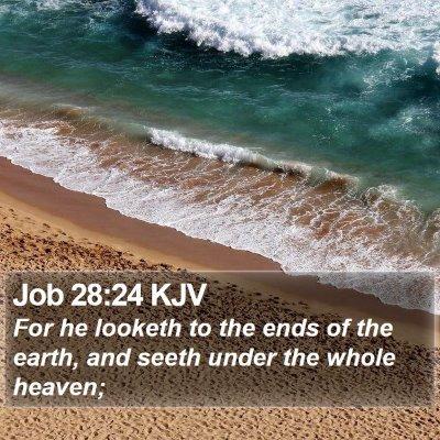 Job 28:24 KJV Bible Verse Image