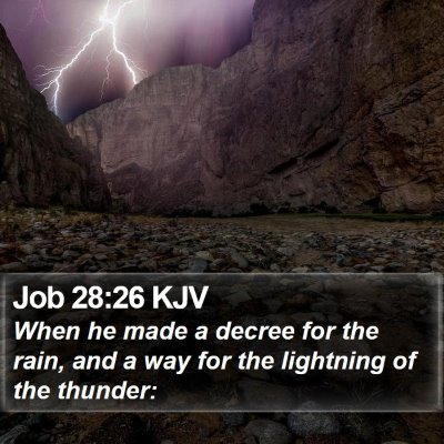 Job 28:26 KJV Bible Verse Image
