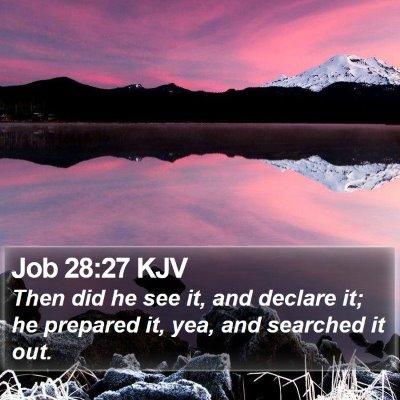 Job 28:27 KJV Bible Verse Image