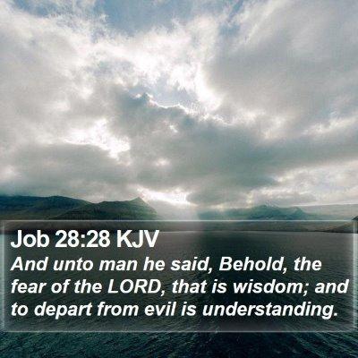 Job 28:28 KJV Bible Verse Image