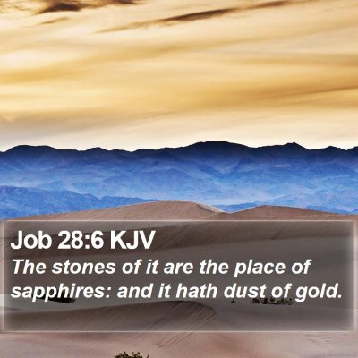 Job 28:6 KJV Bible Verse Image