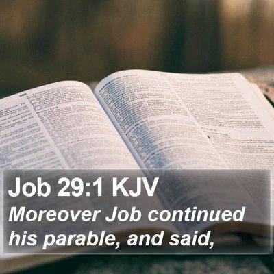Job 29:1 KJV Bible Verse Image