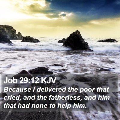 Job 29:12 KJV Bible Verse Image