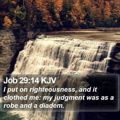 Job 29:14 KJV Bible Verse Image