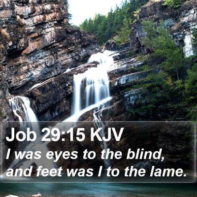 Job 29:15 KJV Bible Verse Image