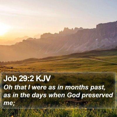 Job 29:2 KJV Bible Verse Image