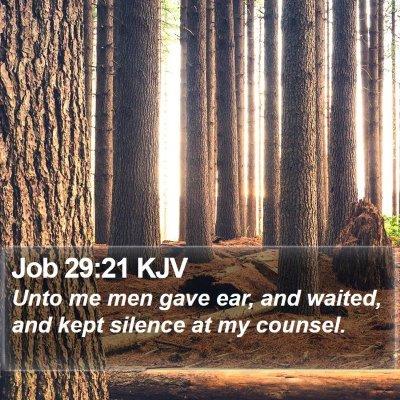 Job 29:21 KJV Bible Verse Image