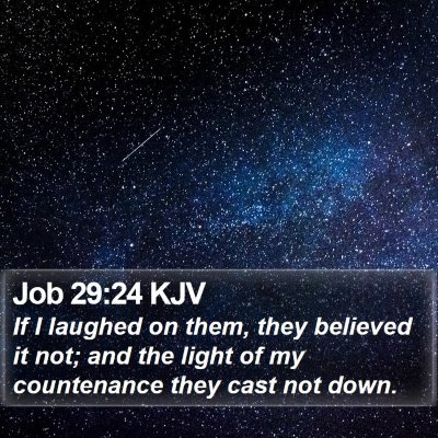Job 29:24 KJV Bible Verse Image