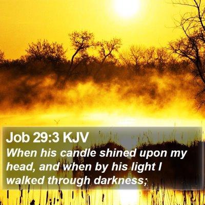 Job 29:3 KJV Bible Verse Image