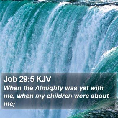 Job 29:5 KJV Bible Verse Image