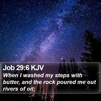Job 29:6 KJV Bible Verse Image