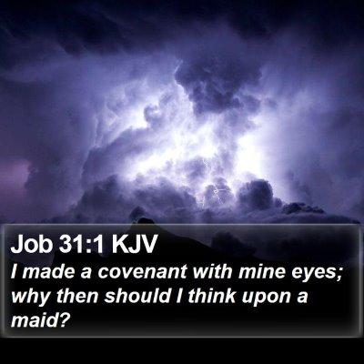 Job 31:1 KJV Bible Verse Image