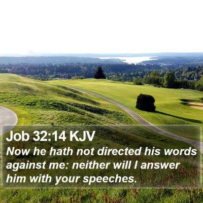Job 32:14 KJV Bible Verse Image