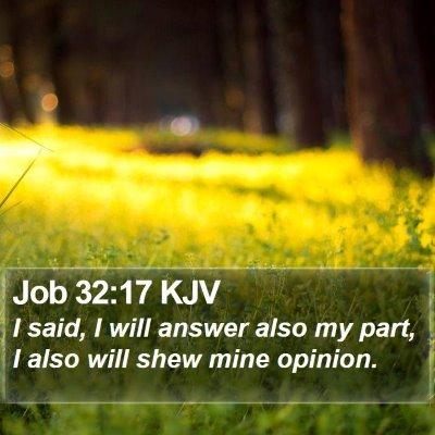 Job 32:17 KJV Bible Verse Image