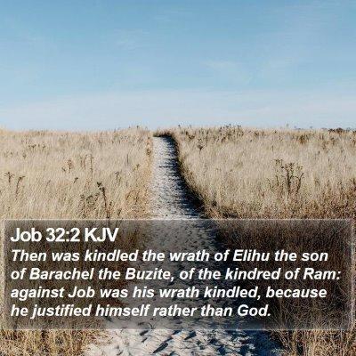 Job 32:2 KJV Bible Verse Image