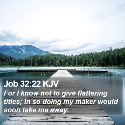 Job 32:22 KJV Bible Verse Image