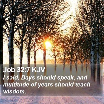 Job 32:7 KJV Bible Verse Image